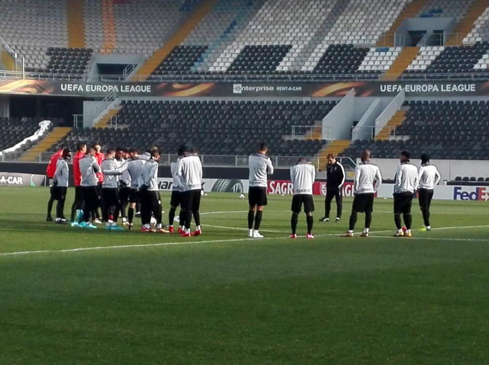 V. Guimarães: Rafael Martins no treino antes do Konyaspor