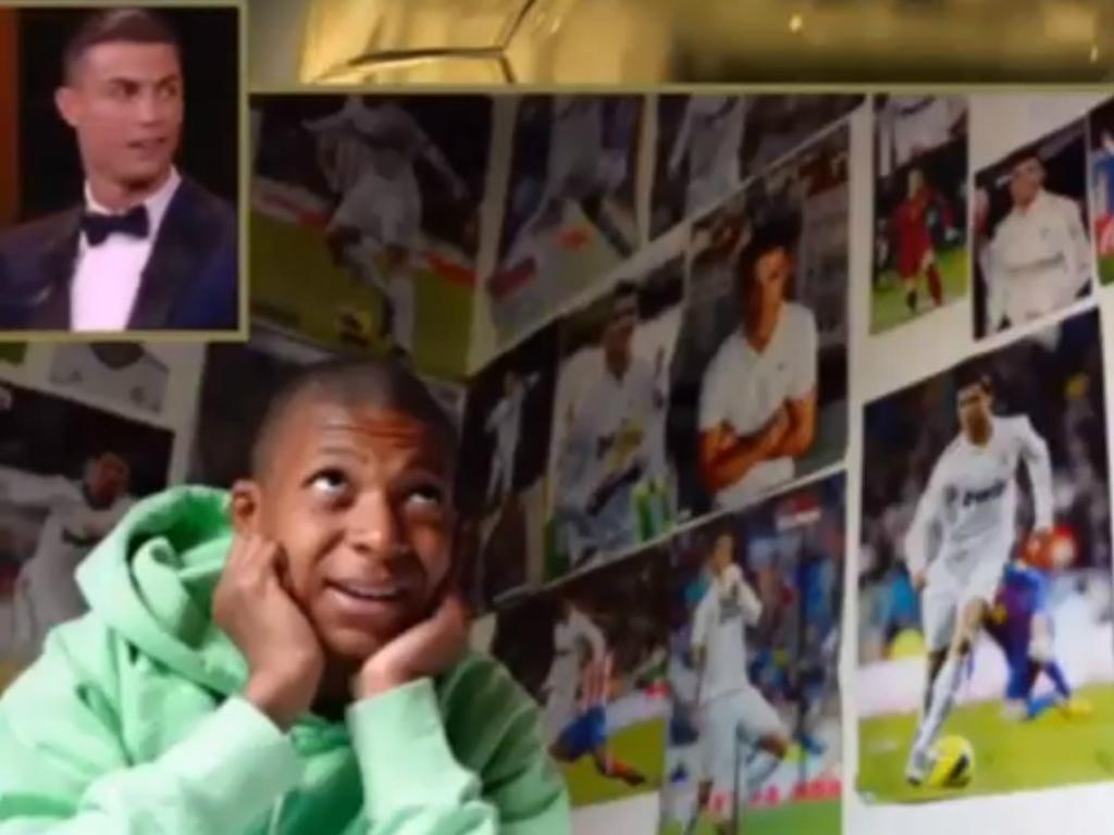 VÍDEO: Ronaldo recebeu mensagem de um fã chamado...Mbappé
