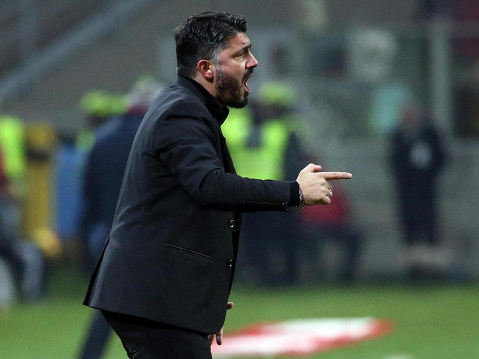 Gattuso e a crise no Milan: «Parecemos uma banda de música»