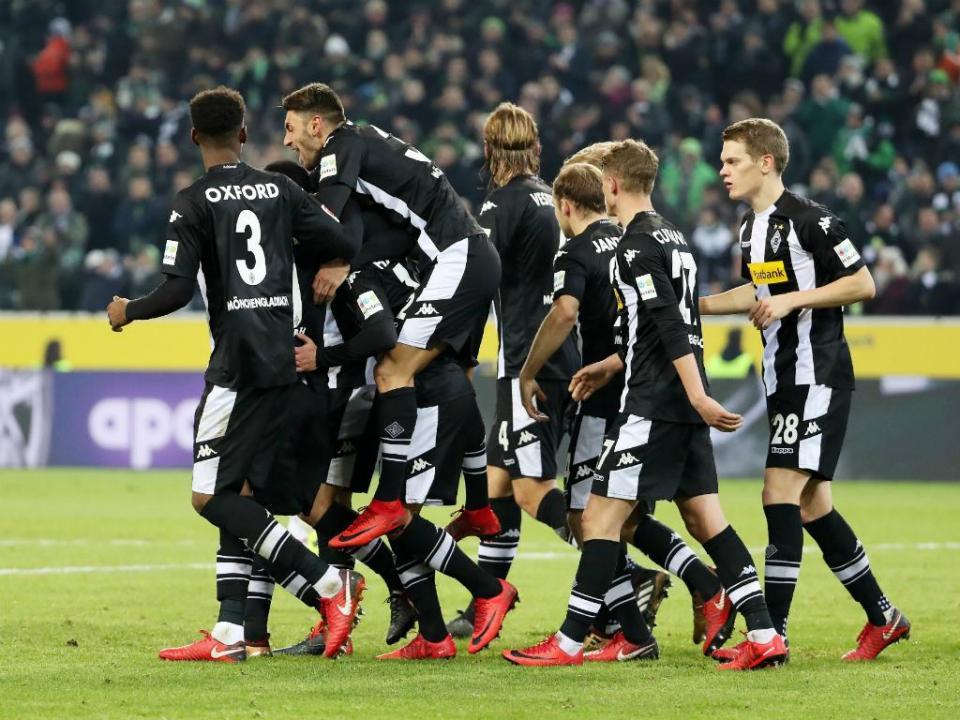 Borussia Monchengladbach em posto de Champions