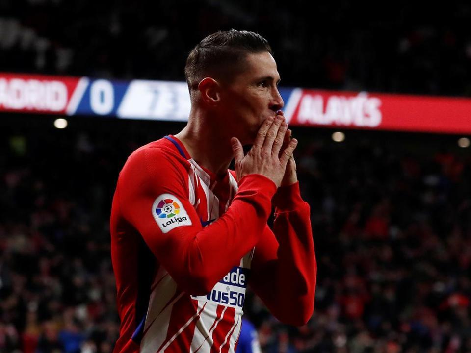 Espanha: Metropolitano em festa com golo 100 de «El Niño»