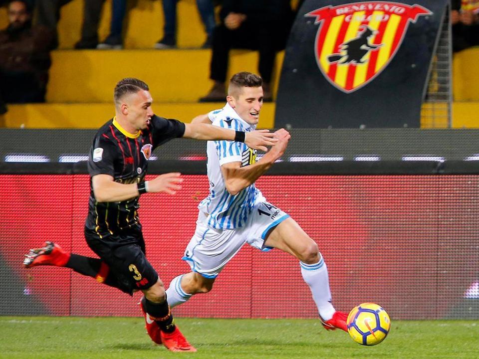 Itália: Benevento esteve em vantagem, mas voltou a perder