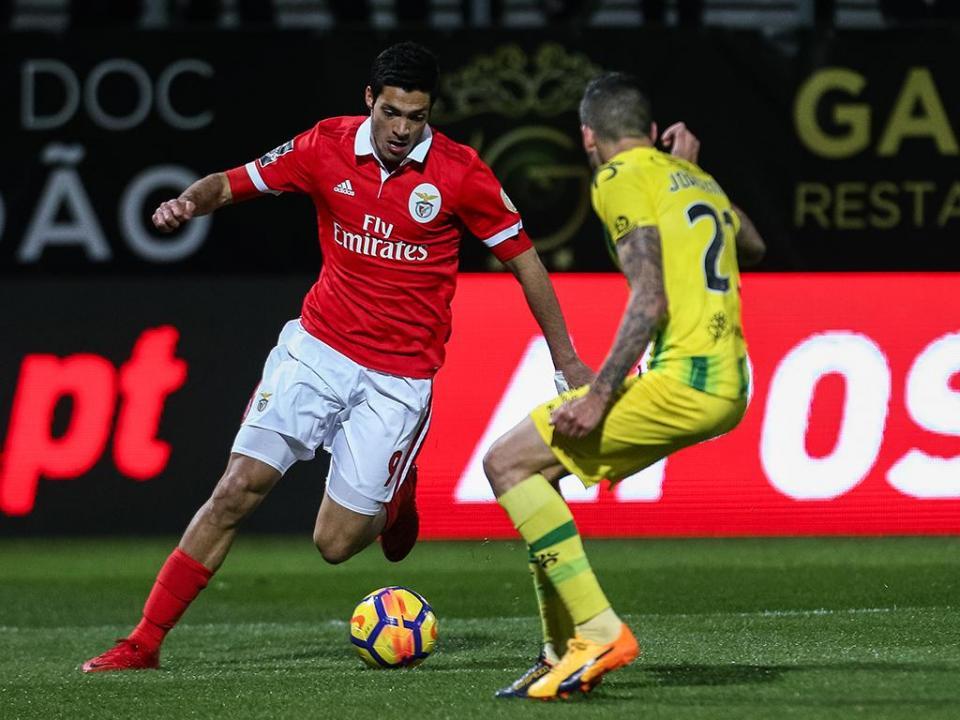 Jiménez fez o jogo 100 com a camisola do Benfica