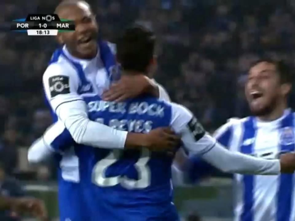 VÍDEO: Reyes marca primeiro golo pelo FC Porto