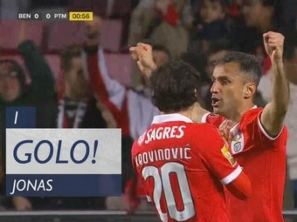 VÍDEO: Jonas marca ao Portimonense aos 52 segundos