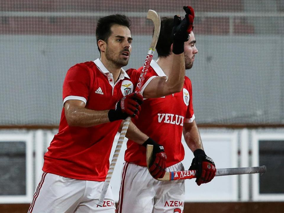 Hóquei em patins: Benfica goleia HC Braga e lidera à condição