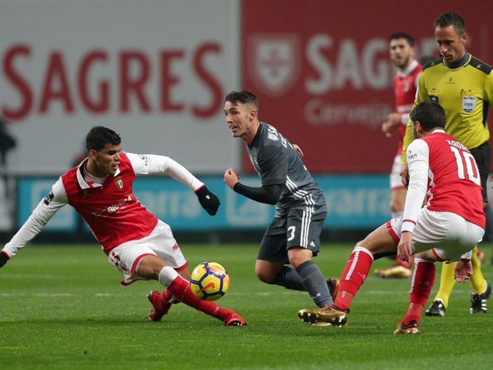 Sp. Braga-Benfica, 1-3 (resultado final)