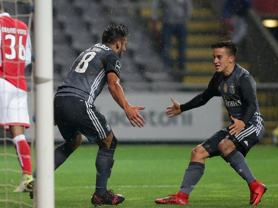 Sp. Braga-Benfica, 1-3 (destaques)