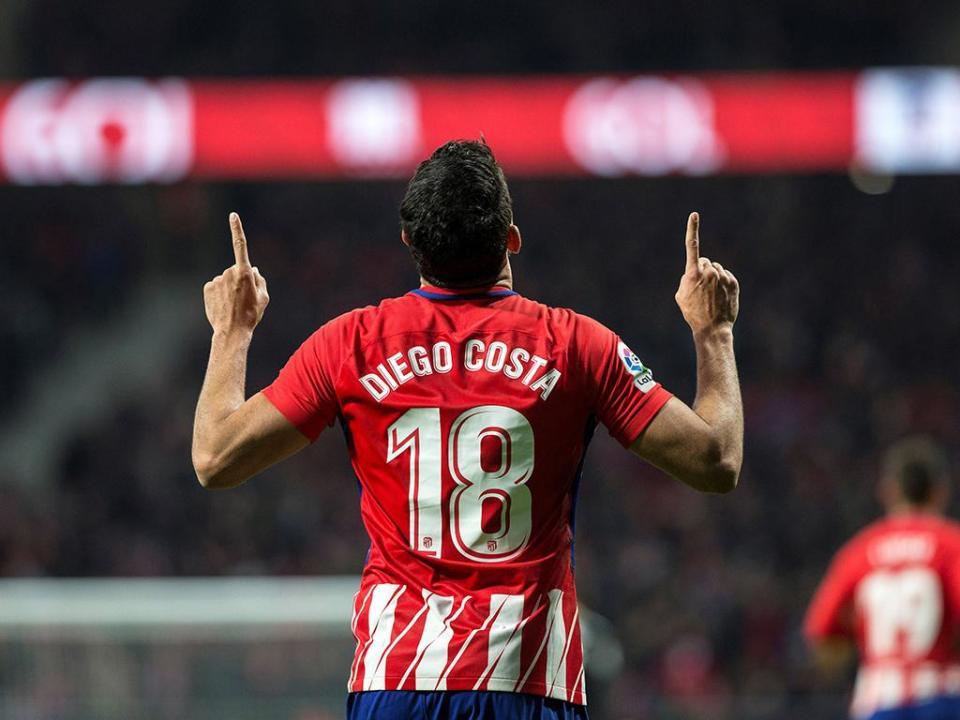 Atletico Madrid: Diego Costa e Gaitán não viajam para Copenhaga