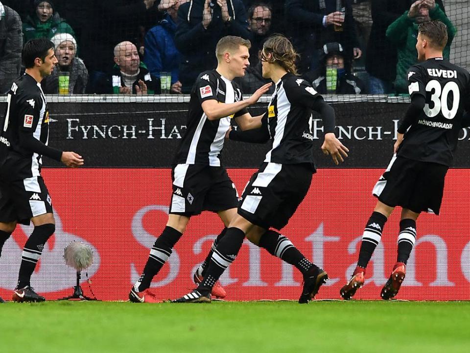 Alemanha: Monchengladbach vence Wolfsburgo e aproxima-se da Europa