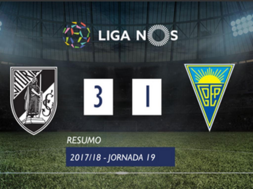 VÍDEO: confira o resumo do V. Guimarães-Estoril (3-1)