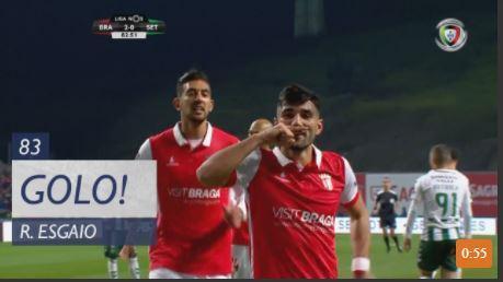 VÍDEO: Esgaio faz o terceiro golo do Sp. Braga