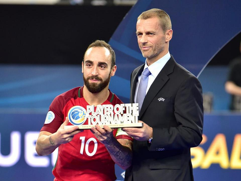Futsal: Ricardinho é o único português no cinco ideal do Europeu
