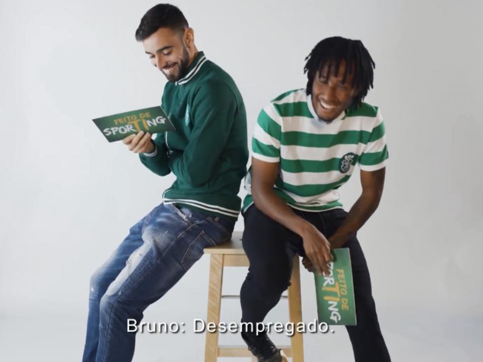 VÍDEO: Bruno Fernandes em conversa animada com Gelson