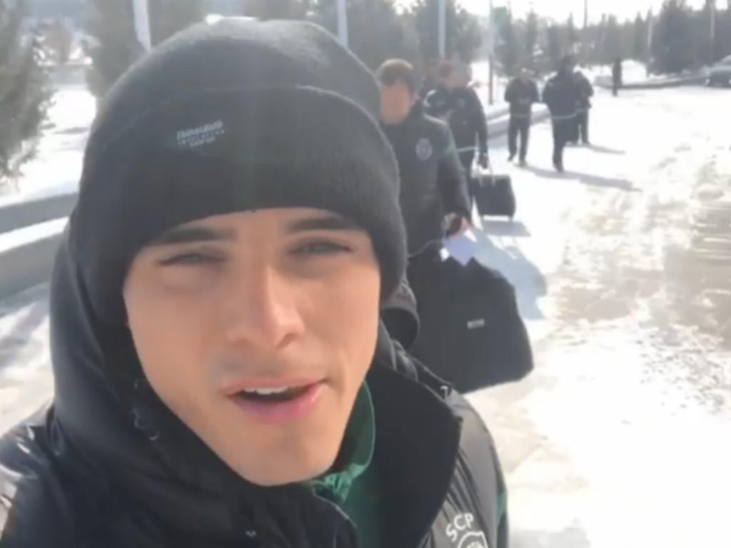 VÍDEO: Sporting no Cazaquistão com 19 graus negativos