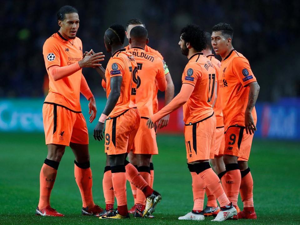 Vitórias na «Champions»: Liverpool foge ao FC Porto e aproxima-se do Benfica