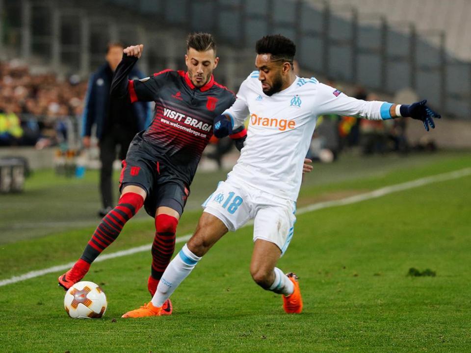 LE: Marselha-Sp, Braga, 3-0 (resultado final)