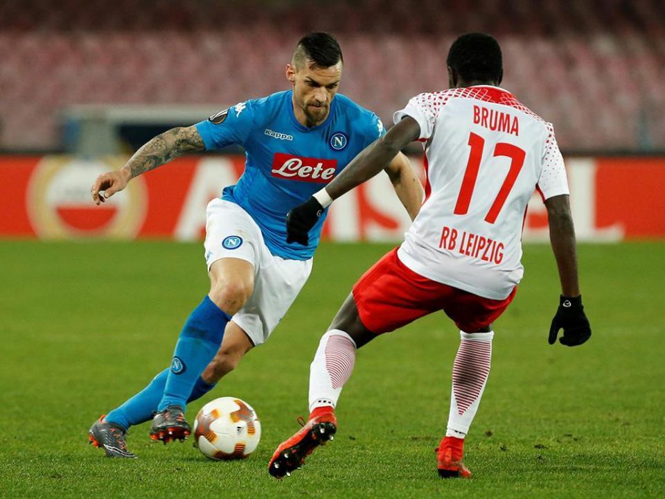 LE: Bruma vira marcador em Nápoles e Leipzig vence por 1-3