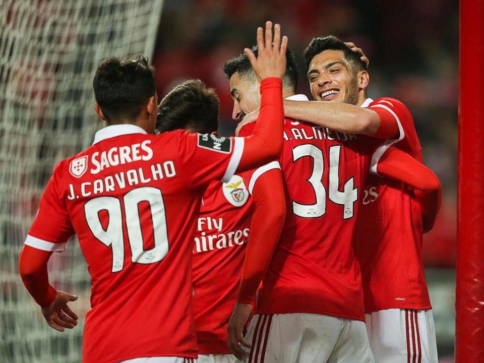 Benfica-Desp. Aves (onzes): João Carvalho faz de Pizzi