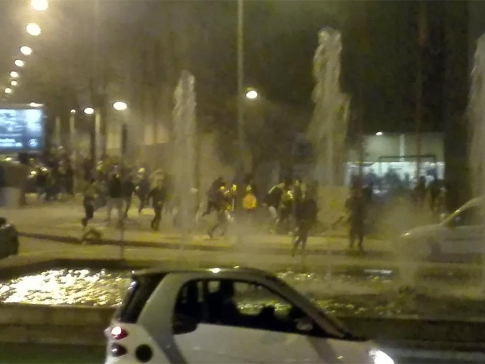 Dezenas de tiros de shotgun e feridos em confrontos antes do dérbi minhoto