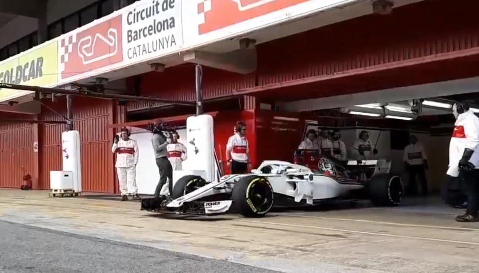 Monolugar da Alfa Romeo Sauber já roda