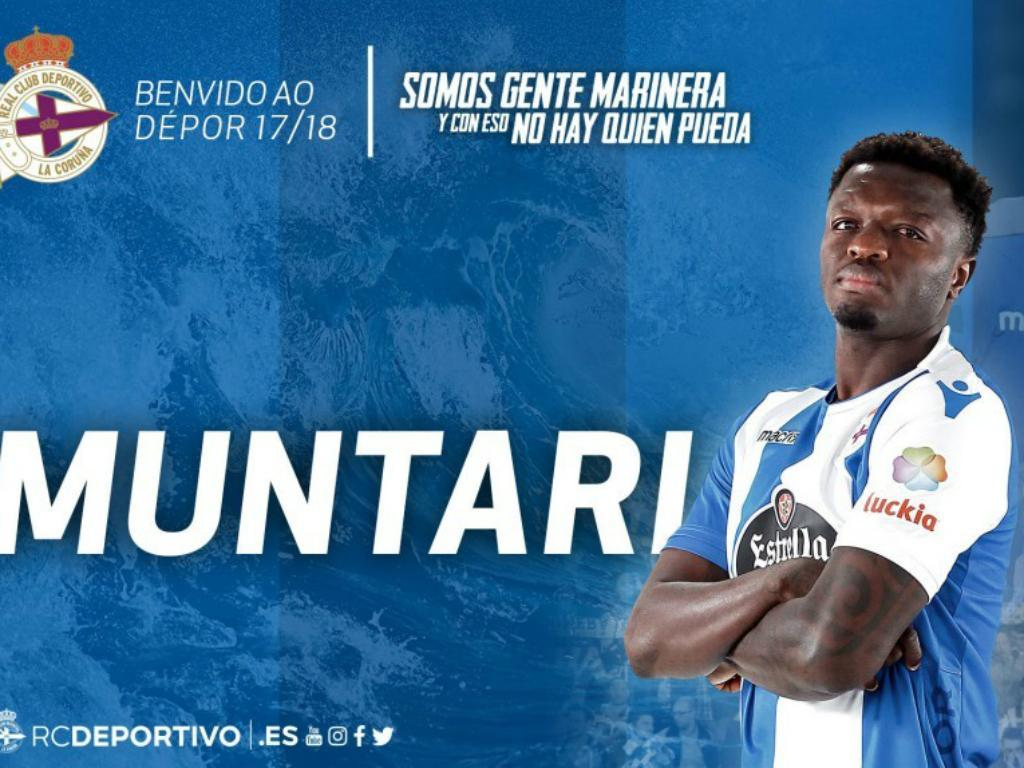 OFICIAL: Muntari assina pelo Deportivo