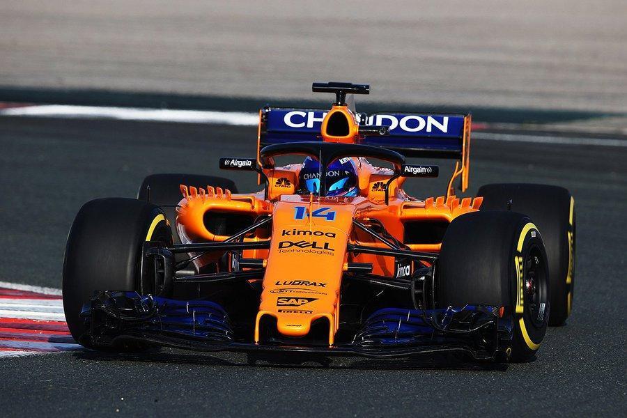 Testes F1: Alonso começa com o McLaren só para ele