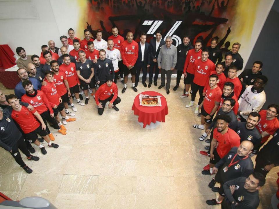 Benfica comemora 114 anos e Vieira soprou as velas (vídeo)