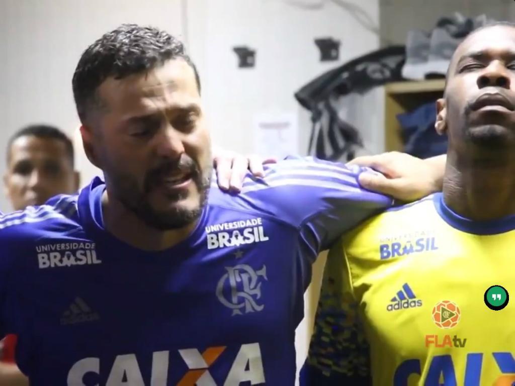VÍDEO: Júlio César emocionou-se na reestreia pelo Flamengo