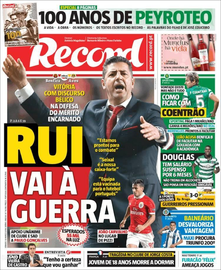 Quiosque: a guerra do Benfica, a luta do Sp. Braga e Peyroteo