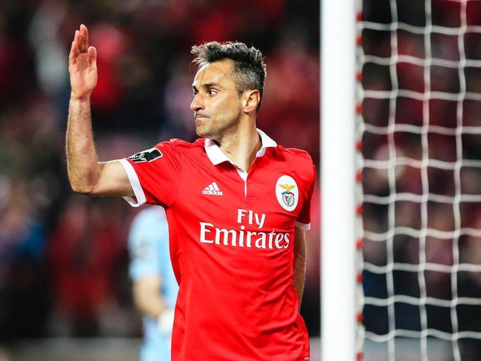 Benfica: Jonas a três golos da liderança da Bota de Ouro