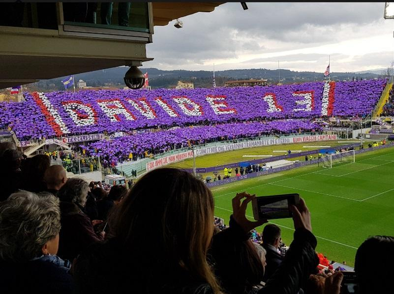 VÍDEO: a incrível homenagem que parou o Fiorentina-Benevento