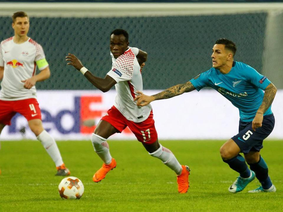 LE: Leipzig com Bruma empata na Rússia e afasta Zenit
