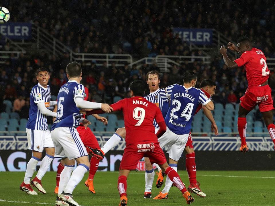 Getafe com Antunes bate Real Sociedad no Anoeta
