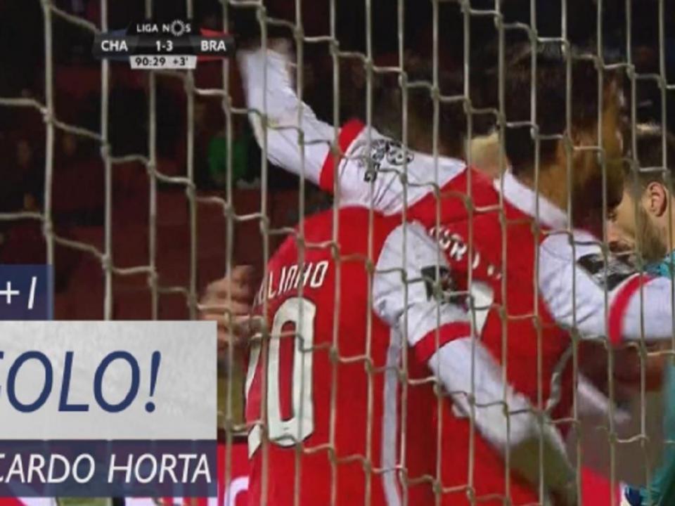 VÍDEO: Ricardo Horta assina a goleada ao Desp. Chaves nos descontos