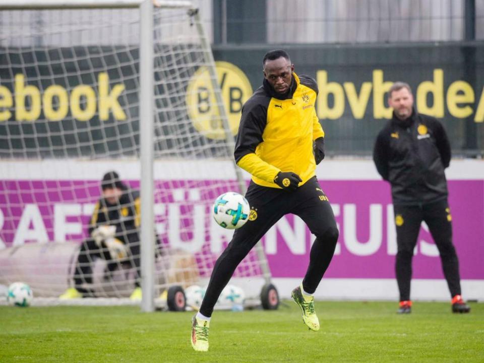 FOTO: as primeiras imagens de Bolt no Borussia Dortmund