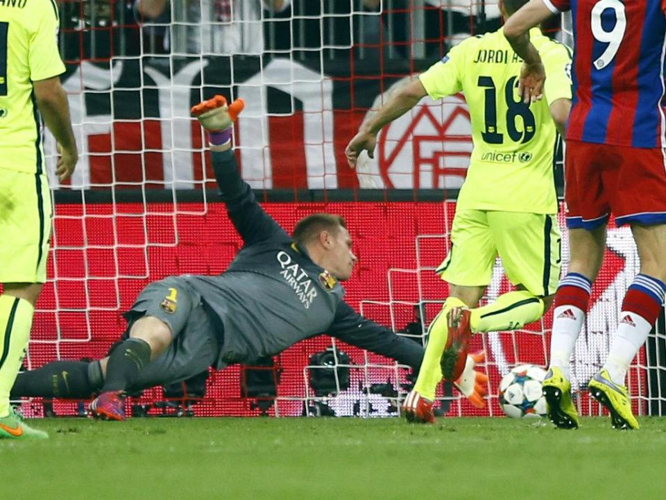 Ter Stegen: o grito «sou o nº1» numa meia-final da Champions