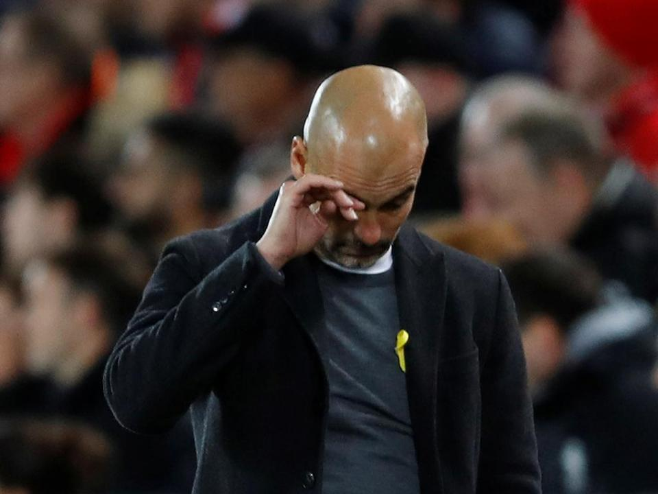 Guardiola: «É um golpe duro mas temos de nos levantar»