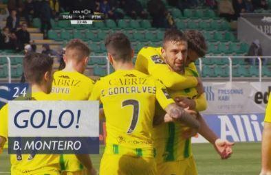 VÍDEO: Bruno Monteiro empata o Tondela-Portimonense