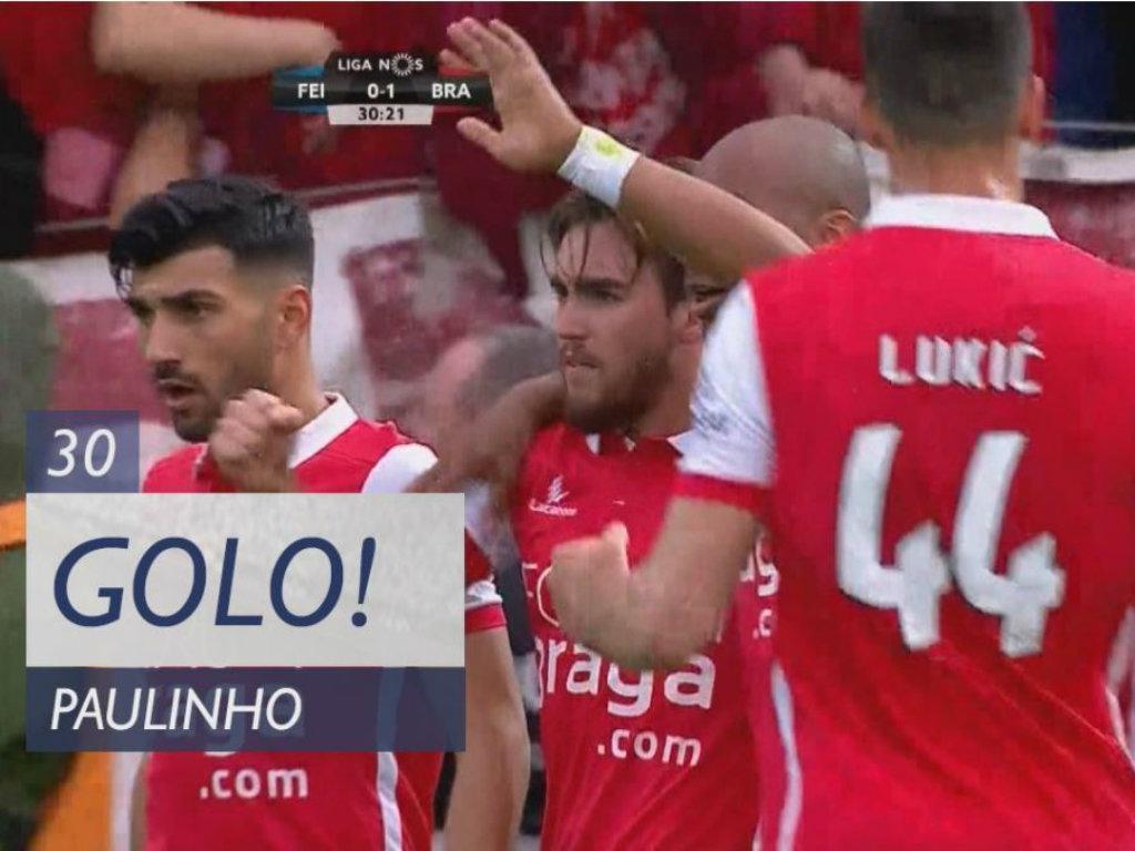 VÍDEO: Paulinho assinou assim o primeiro do Sp. Braga na Feira