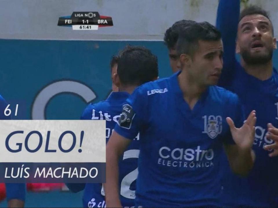 VÍDEO: o Feirense empatou desta forma por Luís Machado