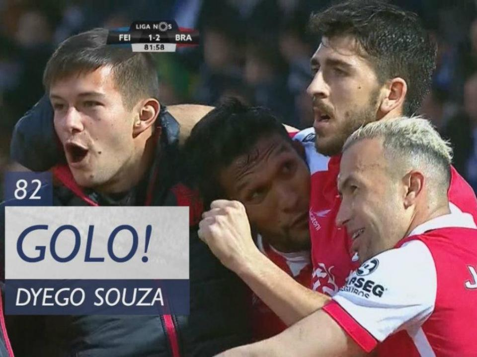 VÍDEO: foi assim que Dyego Sousa assinou o 2-1 para o Sp. Braga