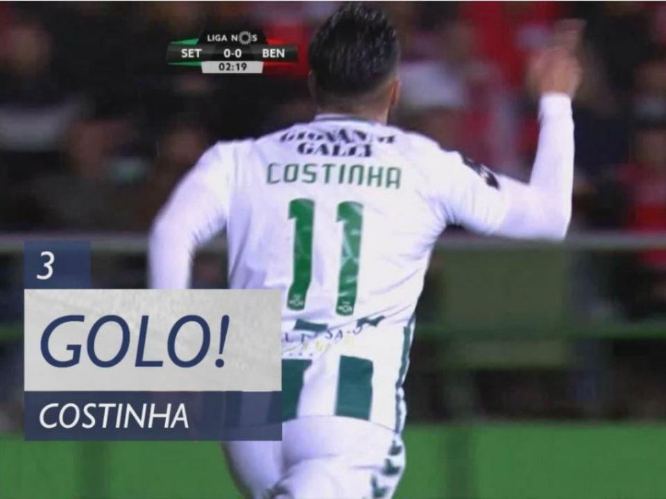 VÍDEO: Costinha aproveita as costas de Grimaldo para fazer o 1-0 no Bonfim