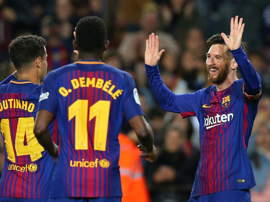 Espanha: «hat-trick» de Messi embala Barcelona para o título