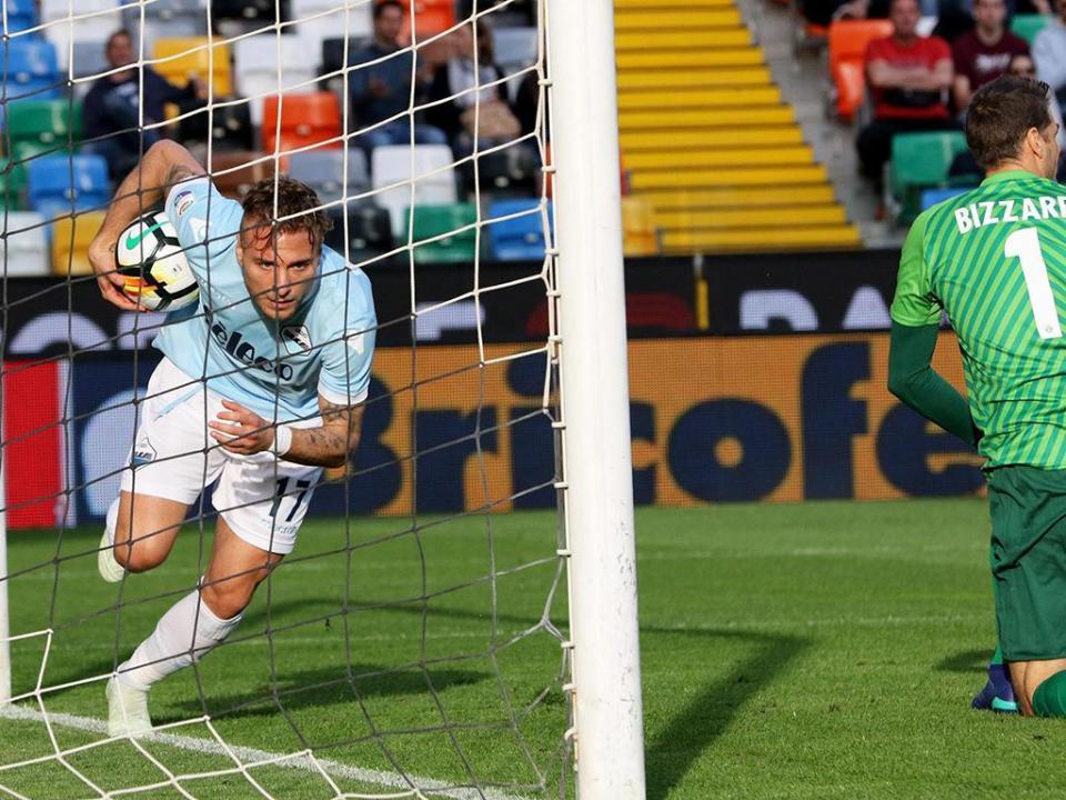Lazio vence em Udine sem Nani e iguala Roma no terceiro lugar