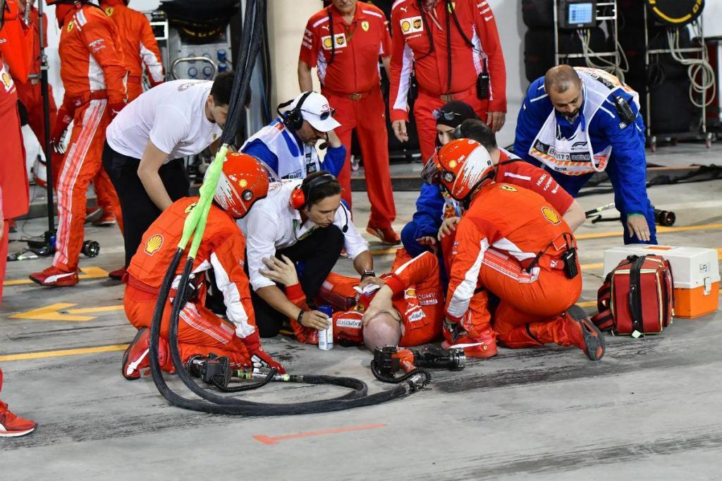 F1: Ferrari multada em 50 mil euros e mecânico com fratura na perna