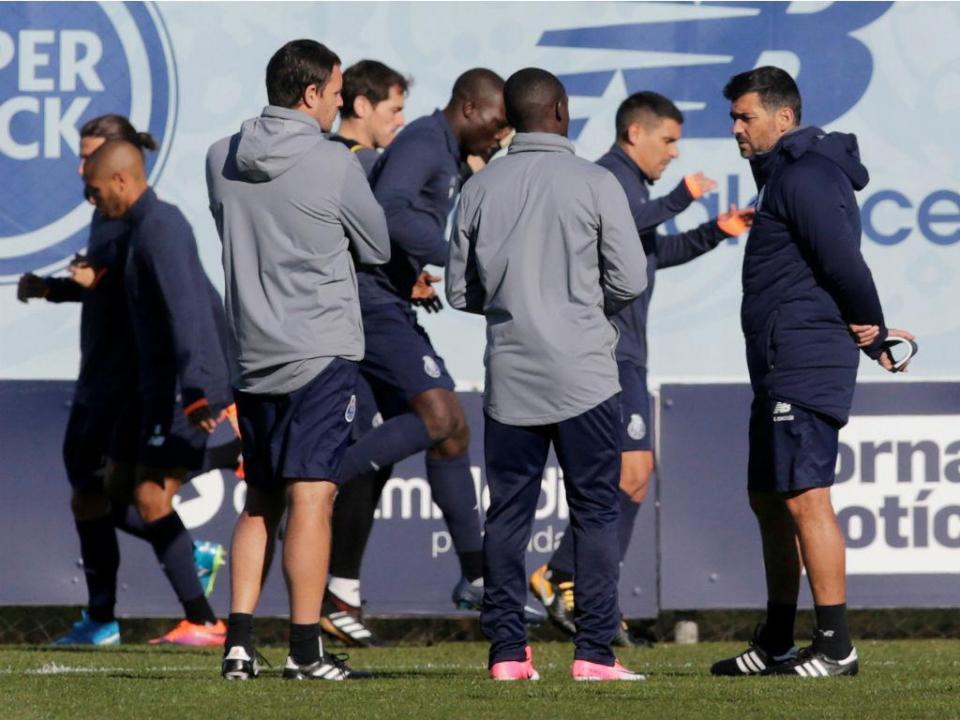 FC Porto voltou aos treinos depois da Taça: só falta Danilo