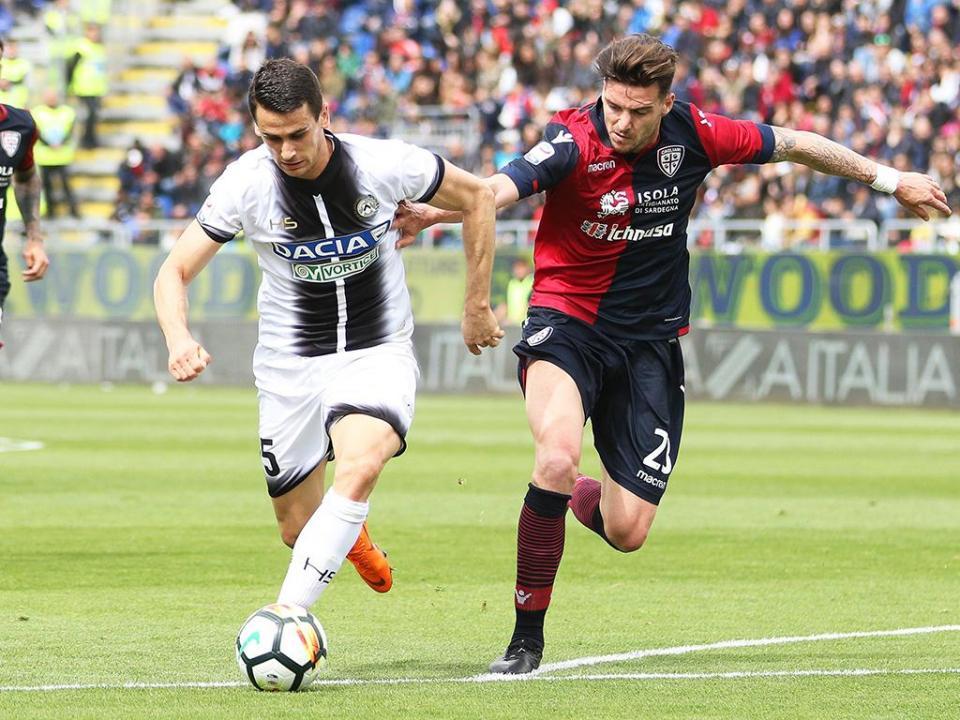 Itália: Udinese em queda livre, nona derrota seguida