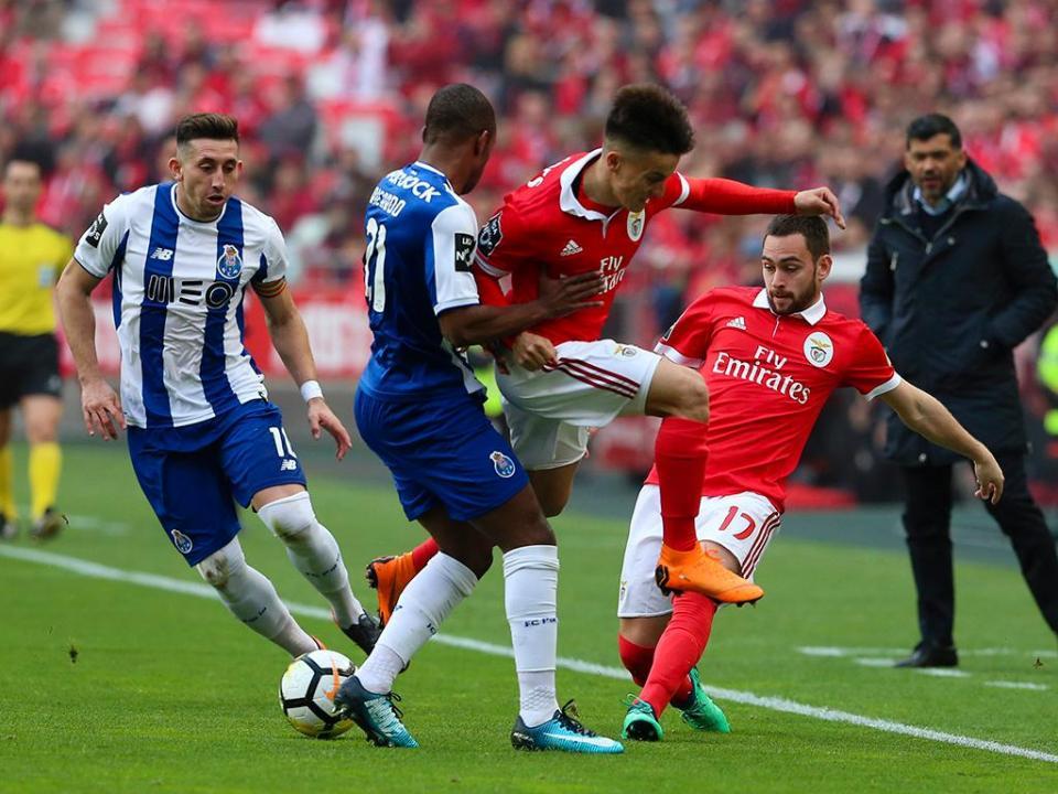 Benfica-FC Porto, 0-1 (resultado final)