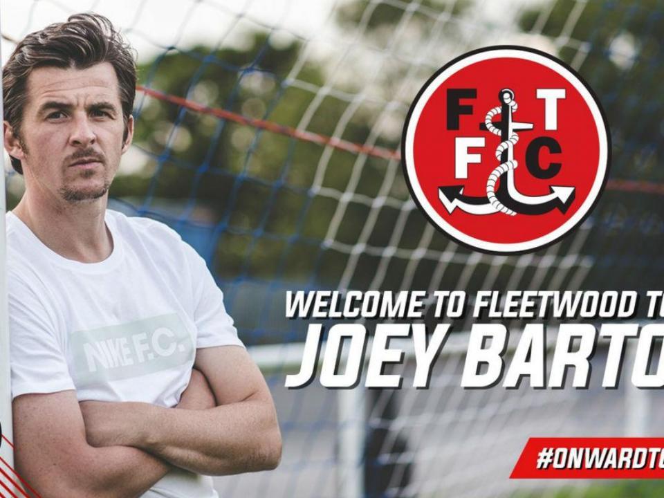 Fleetwood Town anuncia que novo treinador é... Joey Barton
